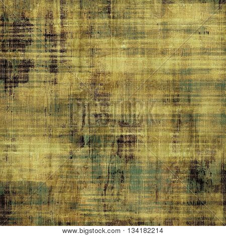 Oldest vintage background in grunge style. Ancient texture with different color patterns: yellow (beige); brown; green; gray; black