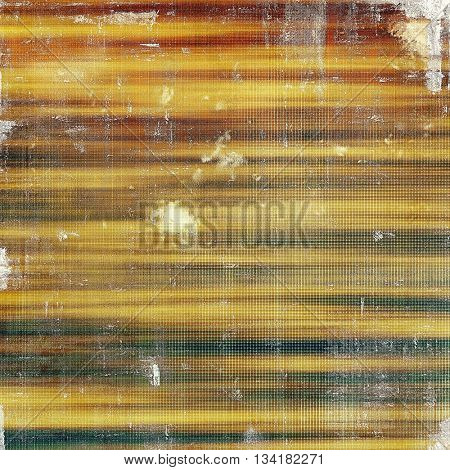 Old style decorative composition or designed vintage template with textured grunge elements and different color patterns: yellow (beige); brown; green; blue; gray; red (orange)