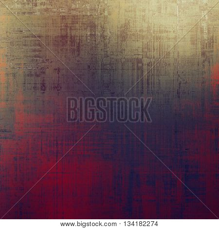 Grunge design composition over ancient vintage texture. Creative background with different color patterns: yellow (beige); brown; gray; red (orange); purple (violet); pink