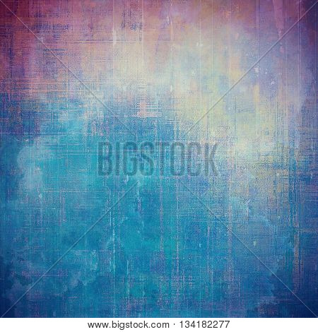 Vintage mottled frame, textured grunge background with different color patterns: yellow (beige); blue; purple (violet); pink; cyan
