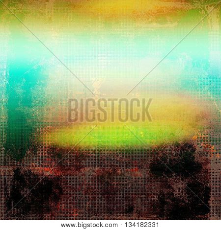 Decorative vintage texture or creative grunge background with different color patterns: yellow (beige); brown; green; blue; red (orange); cyan