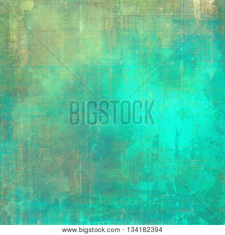 Old abstract texture used as shabby grungy background. With different color patterns: yellow (beige); brown; green; blue; cyan