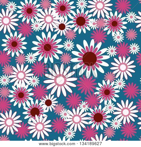 Template With Beautiful White And Pink Flowers