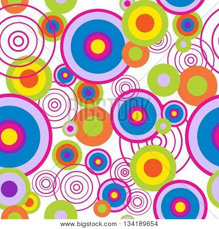 Abstract seamless pattern with a concentric circles