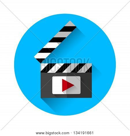 Clapper Film Industry Concept Flat Vector Illustration