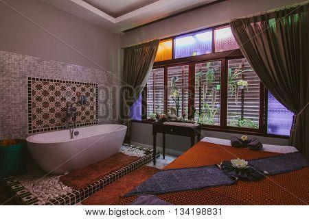 Chiang Rai, Thailand - April 16, 2016: Baan Chonsuwana spa treatment centre in Chiang Rai.