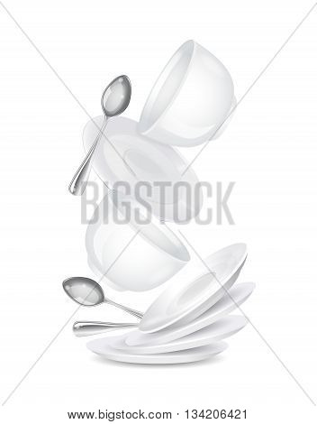 Realistic illustration of cup isolated on a white background