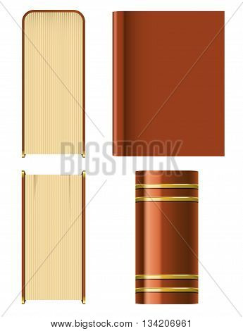 Book isolated on a white background vector illustration.