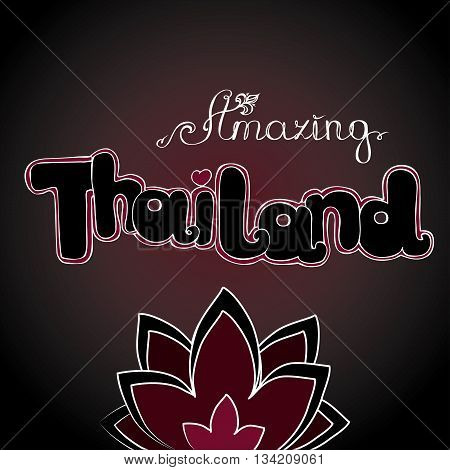 Amazing Thailand background hand drawing vector illustration