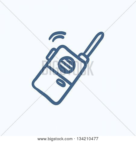 Portable radio set vector sketch icon isolated on background. Hand drawn Portable radio set icon. Portable radio set sketch icon for infographic, website or app.