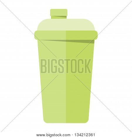 Shaker sport drink bodybuilding muscle nutrition and shaker sport drink healthy container. Shaker sport drink replacement nutrient mix product. Shaker sport drink bottle fitness vector illustration.