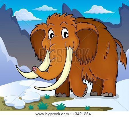 Mammoth theme image 1 - eps10 vector illustration.
