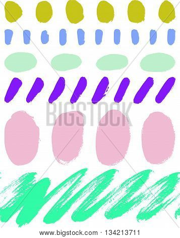 Abstract vector background hand drawn textures seamless pattern