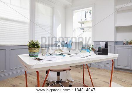 Empty Desk In Doctors Office