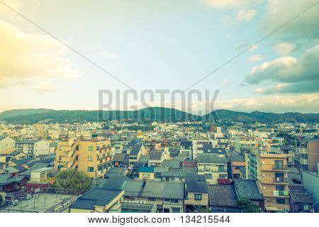 KYOTO, JAPAN - December 8, 2015 : Traditional house in Kyoto, Japan