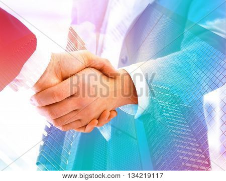 Shake hand for business successful picture illustration.
