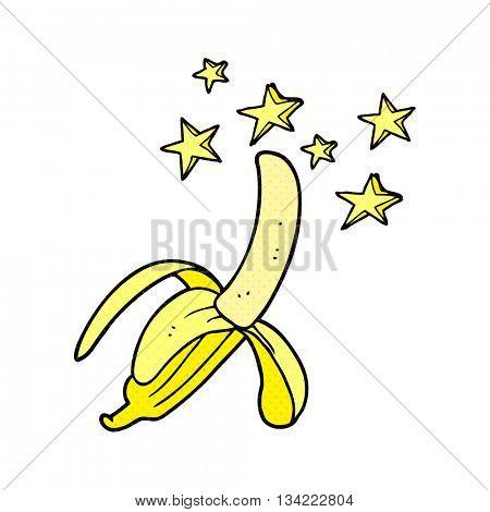 freehand drawn comic book style cartoon amazing banana