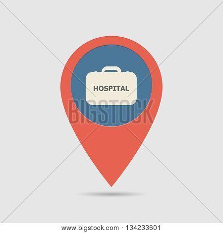 Map Pin Hospital