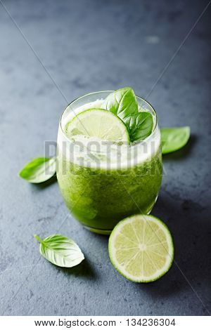 Cucumber and Basil Aqua Fresca with Lime Juice