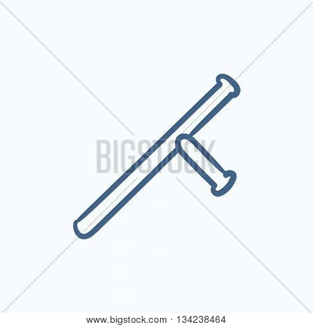 Baton vector sketch icon isolated on background. Hand drawn Baton icon. Baton sketch icon for infographic, website or app.