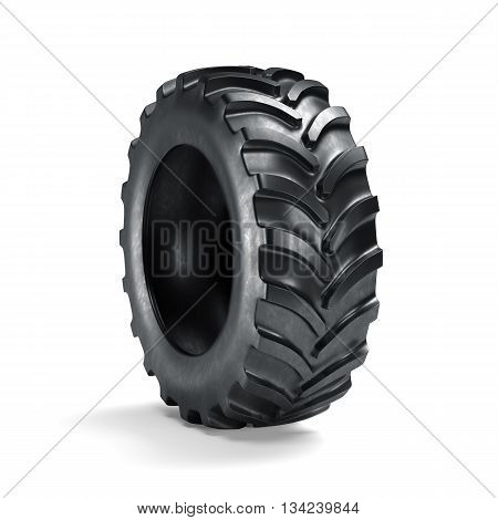 Tractor Tyre Isolated