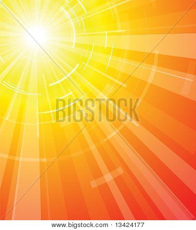 The hot summer sun