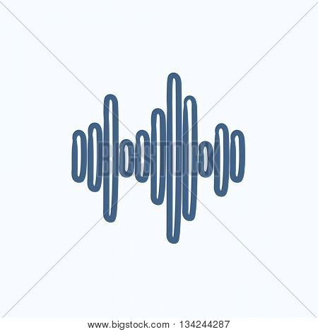 Equalizer vector sketch icon isolated on background. Hand drawn Equalizer icon. Equalizer sketch icon for infographic, website or app.