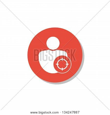 User Goal Icon In Vector Format. Premium Quality User Goal Symbol. Web Graphic User Goal Sign On Red