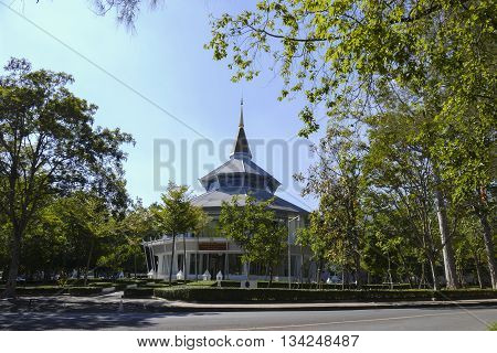 CHIANG MAI, THAILAND - DECEMBER 23: The building for glorifying the king in Chiang Mai university in Chiang Mai Thailand on December 23 2015.