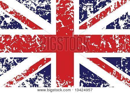 Grunge flag of United Kingdom - useful background