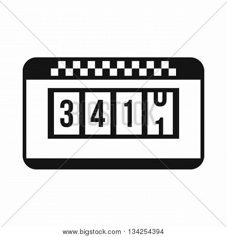 Taximeter icon in simple style isolated on white background