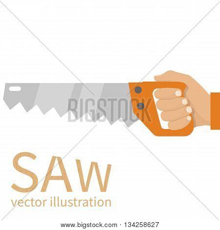 Man Holding Saw