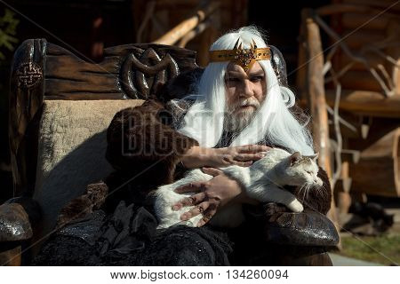 Old Druid Sits In Chair