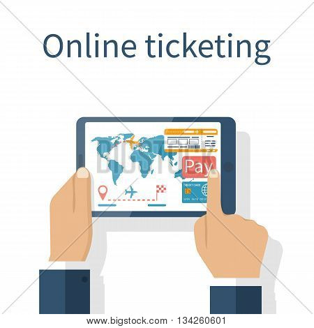 Tickets Online Vector