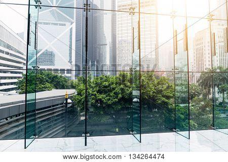 Windows in morden office building