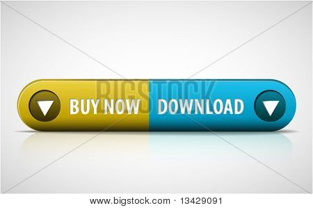 Yellow and blue Buy now / Download double button