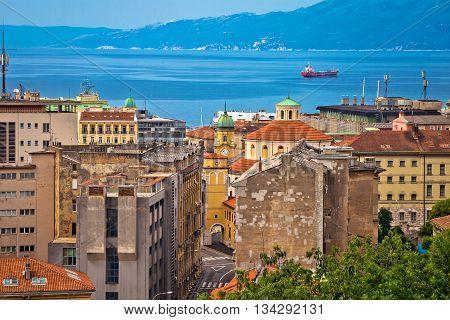 City of Rijeka waterfront view Kvarner Croatia
