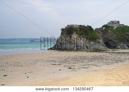 A view of Newquay beach in Cornwall
