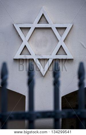 Star of David symbol of Judaism, the symbol of the Jews.