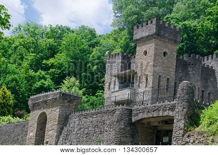 Mid evil Castle in Forest with Watch Tower