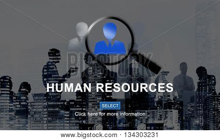 Human Resources Hiring Occupation Headhunting Concept poster