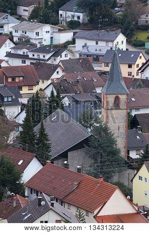 St. Antonius Church In Ebersteinburg, Baden-wurttemberg, Germany