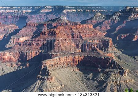 Formations At Grand Canyon, South Rim, Arizona,  Usa