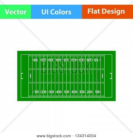 American Football Field Mark Icon