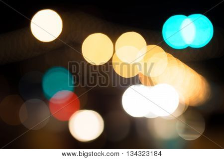 abstract bokeh from city light in night