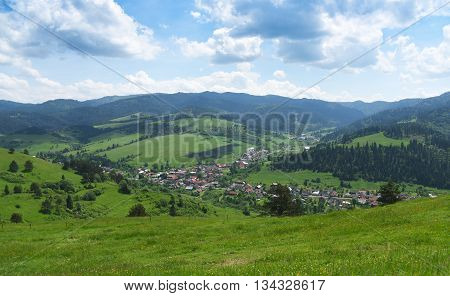 Mountains Pieniny in Slovakia and Poland in June
