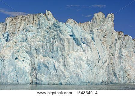Ice Face of the Columbia Glacier in Prince William Sound in Alaska
