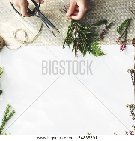 Blank Flowers Style Decoration Concept