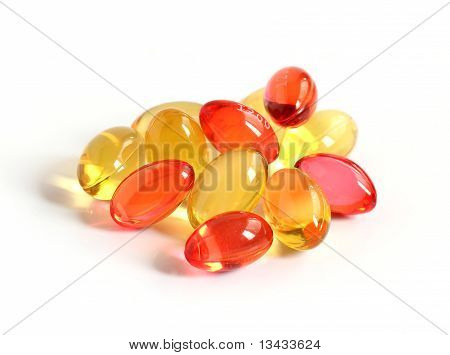 Red And Yellow Gel Capsules