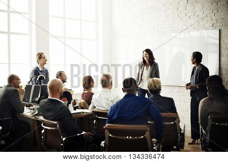 Business People Meeting Conference Brainstorming Concept